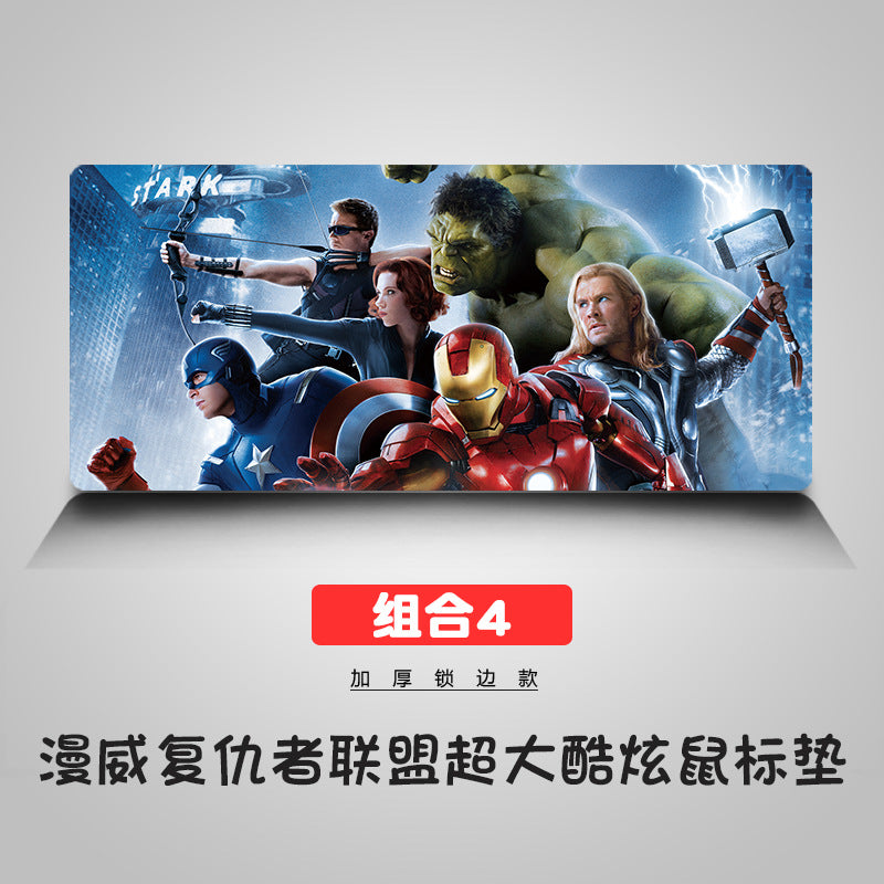 Captain America cosplay 3D Printing Mouse Pad Computer Desk Mat For Gaming  Avengers