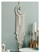 Load image into Gallery viewer, Moon Ornaments Model  Child Gift Cute Dreamcatcher Hand Made Bohemia Northern Europe
