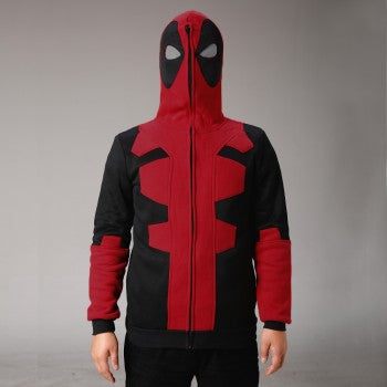 Deadpool 2016 Movie Black Zip Up Hoodies