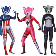 Load image into Gallery viewer, Fortnite Costume Cosplay Cuddle Team Panda Woman & Man Jumpsuit + Mask Halloween - bfjcosplayer