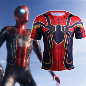 Avengers Infinity War T-Shirts Cosplay Iron Spiderman 3D Sports T-Shirt Short Sleeve Halloween Party - bfjcosplayer