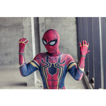 Avengers Infinity War Iron Spiderman Kids Jumpsuit Cosplay SpiderMan Mask Bodysuit Halloween Party Props - bfjcosplayer
