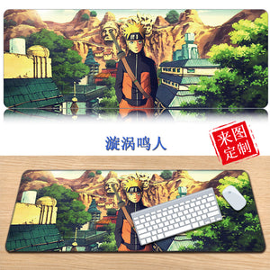 NARUTO Cosplay 3D Printing Mouse Pad Computer Desk Mat For Gaming Uzumaki Naruto