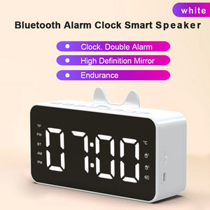 Pink Smart Alarm Clock Ornaments  Figure Model Doll Toys Child Gift Cute Totoro Bluetooth Speaker