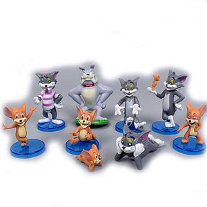 Tom and Jerry Ornaments  Figure Model Doll Toys Child Gift Cute Set of 9 dolls