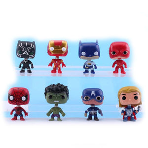 Marvel Black Panther Ornaments  Figure Model Doll Toys Child Gift Cute Grogu Avengers