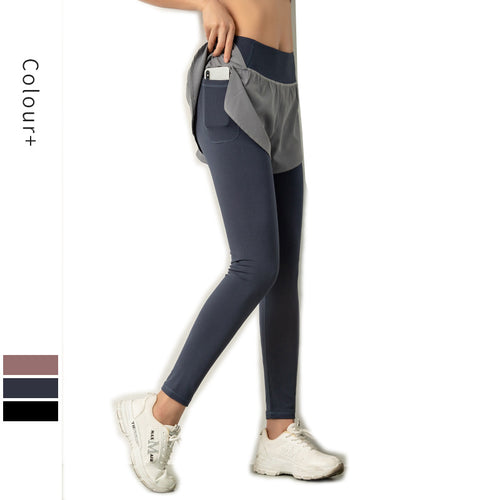 Tighten abdomen Women's High Waist Yoga Pants Hip Lifting Workout Running Tights
