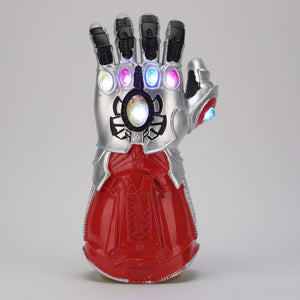 Avengers: Endgame Thanos Infinity Gauntlet Gloves Led Light Infinity War Silver red Glove Halloween Cosplay Props - bfjcosplayer