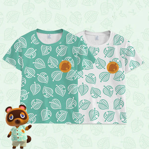 Animal Crossing:New Horizons Short Sleeve Cosplay Tom Nook T-shirt Cosplay Top Costume Timmy Tommy Prop - bfjcosplayer