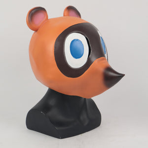 Animal Crossing Tom Nook cosplay Latex Helmet Halloween prop - bfjcosplayer