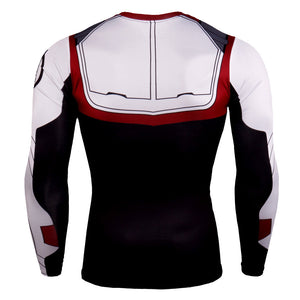Avengers 4 Quantum Warrior 3d Digital Print Long Sleeve T-Shirt cosplay costume - bfjcosplayer
