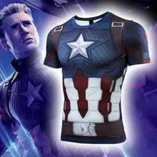 Load image into Gallery viewer, Avengers 4: endgame Captain America Clothes Marvel Long/Short Sleeve T-Shirt Tights - bfjcosplayer