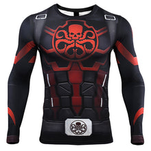 Load image into Gallery viewer, Avengers 4: endgame Captain America T-shirt Marvel Hydra Cosplay costume long sleeves quick-drying clothes - bfjcosplayer