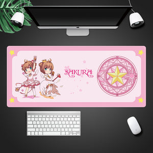 Cardcaptor Sakura Cosplay 3D Printing Mouse Pad Computer Desk Mat For Gaming