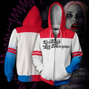 2019 New DC Comics Suicide Squad Harley Quinn Anime hoodie 3D Anime Joker cosplay costume - bfjcosplayer