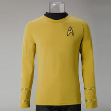 Load image into Gallery viewer, Cosplay Star Trek TOS The Original Series Kirk Shirt Uniform Costume Halloween Yellow Costume - bfjcosplayer