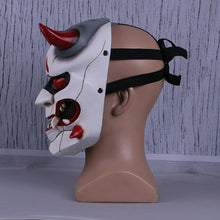 Load image into Gallery viewer, Overwatch Genji Skin Oni Ghosts Mask Cosplay Mask Resin Hero Mask For Halloween - bfjcosplayer