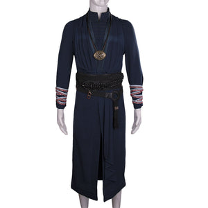 2016 Marvel Movie Doctor Strange Costume Ring Necklace Cosplay Steve Full Set Costume Robe Halloween Costume