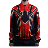 Avengers:Infinity War Iron Spiderman Jacket Cosplay Costume Baseball Coat 3D Sports Clothes - bfjcosplayer