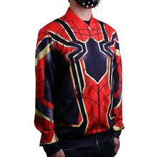 Load image into Gallery viewer, Avengers:Infinity War Iron Spiderman Jacket Cosplay Costume Baseball Coat 3D Sports Clothes - bfjcosplayer