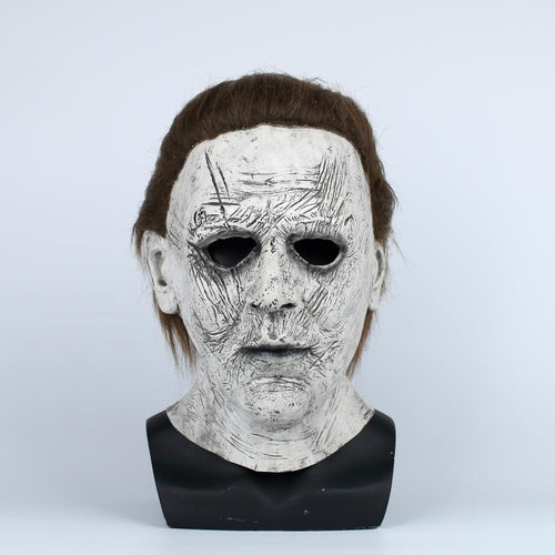 Michael Myers Cosplay Latex Helmet Horror Halloween Party Props - bfjcosplayer