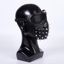 Load image into Gallery viewer, Game Watch Dogs 2 Mask Marcus LED Light Mask 25 Emoji Changeable Holloway Wrench Cosplay Punk Gothic Rivet Face Mask Halloween - bfjcosplayer