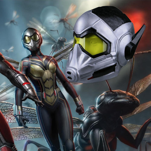 Ant-man 2:Ant-Man and the Wasp Cosplay Latex Helmet Hope van Dyne Props - bfjcosplayer
