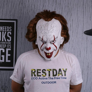 Stephen King's It Mask Pennywise Costume Joker Mask Tim Curry Horror Masks Cosplay Halloween - bfjcosplayer