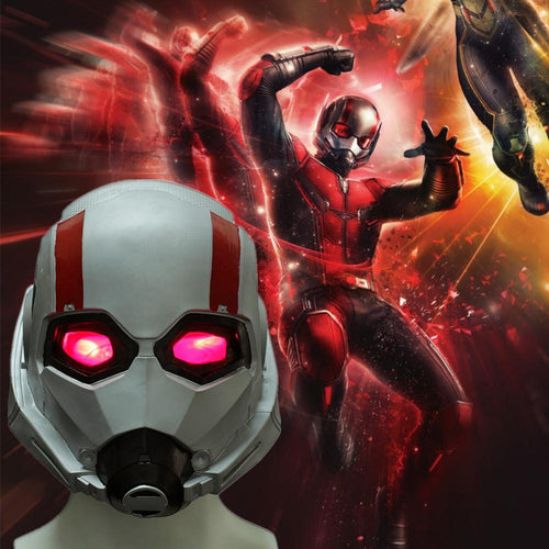 Ant-Man Cosplay Wasp LED Soft PVC Helmet Halloween Party Props - bfjcosplayer