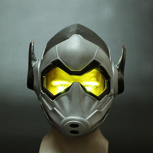 Ant-man 2:Ant-Man and the Wasp Mask Cosplay Wasp LED Latex Mask Hope van Dyne Helmets Masks Halloween Party Props - bfjcosplayer