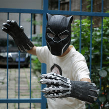 Load image into Gallery viewer, A Pair of Two Black Panther Claws Gloves Cosplay Halloween Props - bfjcosplayer