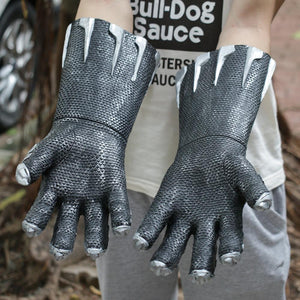 A Pair of Two Black Panther Claws Gloves Cosplay Halloween Props - bfjcosplayer