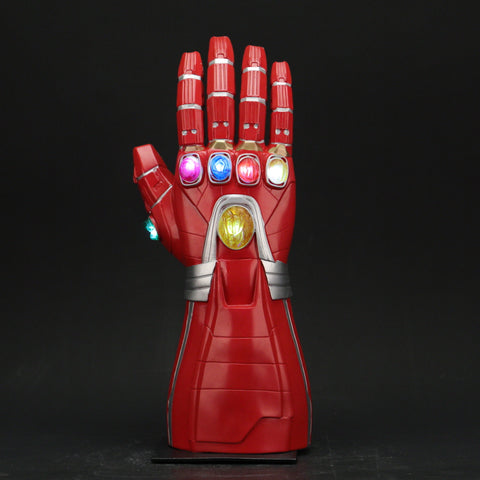 Avengers 4 Endgame Iron Man Arm Infinity Gauntlet Cosplay Gloves Led Light Superhero Gloves Party Props - bfjcosplayer