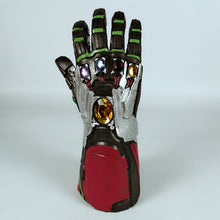 Load image into Gallery viewer, Avengers 4 Endgame Iron Man Infinity Gauntlet Cosplay Arm Thanos Latex Gloves Led Light Superhero Gloves Party Props - bfjcosplayer