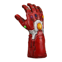 Load image into Gallery viewer, 2019 Avengers 4 Endgame Iron Man Infinity Gauntlet Cosplay Arm Thanos Red Latex Gloves Led Light Superhero Gloves - bfjcosplayer