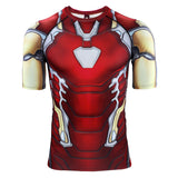 Avengers 4: endgame Iron Man Tony Clothes Marvel Long / Short Sleeve T-Shirt Tights - bfjcosplayer