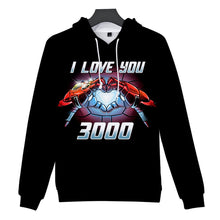 Load image into Gallery viewer, 2019 new Avengers 4 :endgame I love you 3000 Iron Man loves you three thousand times hooded sweater - bfjcosplayer