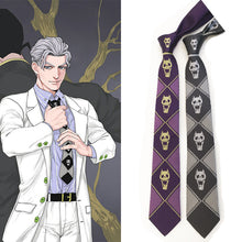 Load image into Gallery viewer, JoJo's Bizarre Adventure tie Kira Yoshikage skull tie - bfjcosplayer