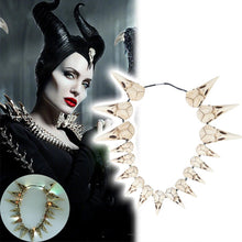 Load image into Gallery viewer, 2019 New Movie Maleficent 2 LED Necklace Vintage Bird Beak Skull Charm LED Necklace Accessories