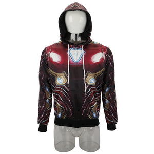 Avengers 4 New Iron Man's Battlesuit Sports Sweatshirt Pullover - bfjcosplayer