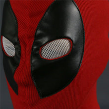 Load image into Gallery viewer, Deadpool Mask Breathable Fabric Faux Leather Full Face Mask Halloween Party Cosplay Prop - bfjcosplayer