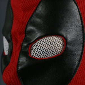 Deadpool Mask Breathable Fabric Faux Leather Full Face Mask Halloween Party Cosplay Prop - bfjcosplayer