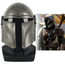 Load image into Gallery viewer, New Star Wars The Mandalorian Cosplay Mask Pedro Pascal Soldier Warrior latex Helmet Halloween Prop - bfjcosplayer