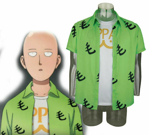 2019 One Punch Man Saitama Mao Shirt Oppai Tee Outfit T-Shirts Cosplay Costume - bfjcosplayer