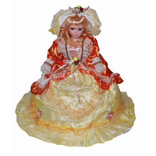 Orange yellow Big skirt doll Europe Ornaments  Figure Model Doll Toys Child Gift Cute Princess Lace Victoria