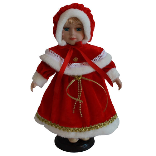 Red Christmas costumes Big skirt doll Europe Ornaments  Figure Model Doll Toys Child Gift Cute Princess