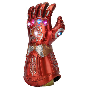 Avengers: Endgame Thanos Infinity Gauntlet Gloves Led Light Infinity War Red copper Glove Halloween Cosplay Props - bfjcosplayer
