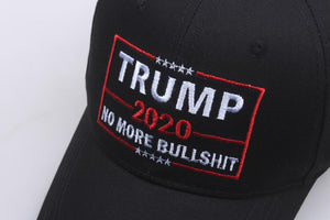 Embroidered Trump 2020 Hat No More Bullshit Unisex Baseball Cap - bfjcosplayer