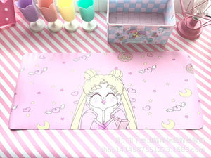 Sailor Moon Cosplay 3D Printing Mouse Pad Computer Desk Mat For Gaming pink