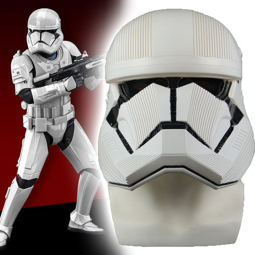 Star Wars 9 The Rise of Skywalker Sith Trooper White PVC Helmet Cosplay Halloween Mask - bfjcosplayer